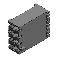 Multi-way housings for receptacles 6.3 mm